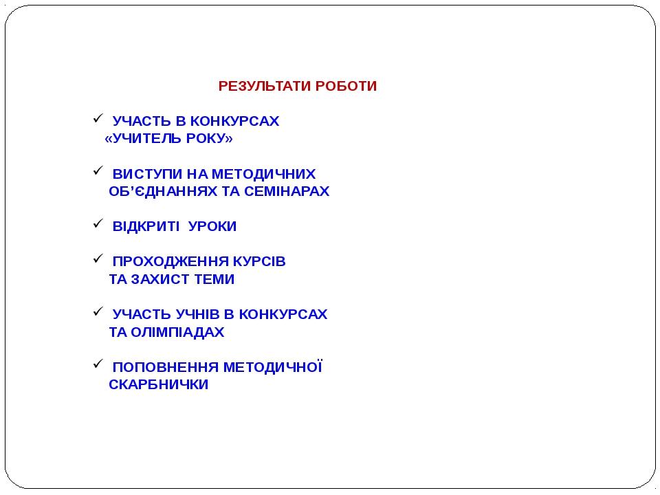 Результати конкурсу учитель року