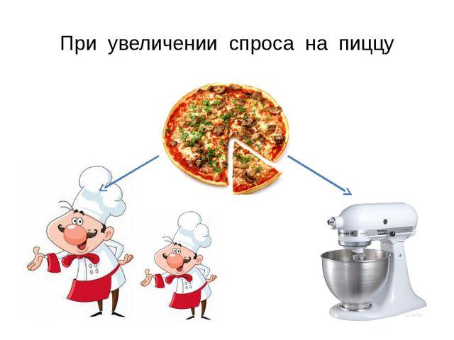 При увеличении спроса на пиццу