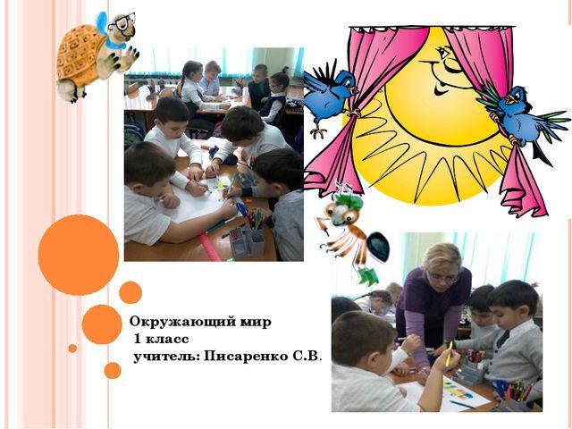 Окружающий мир 1 класс учитель: Писаренко С.В.