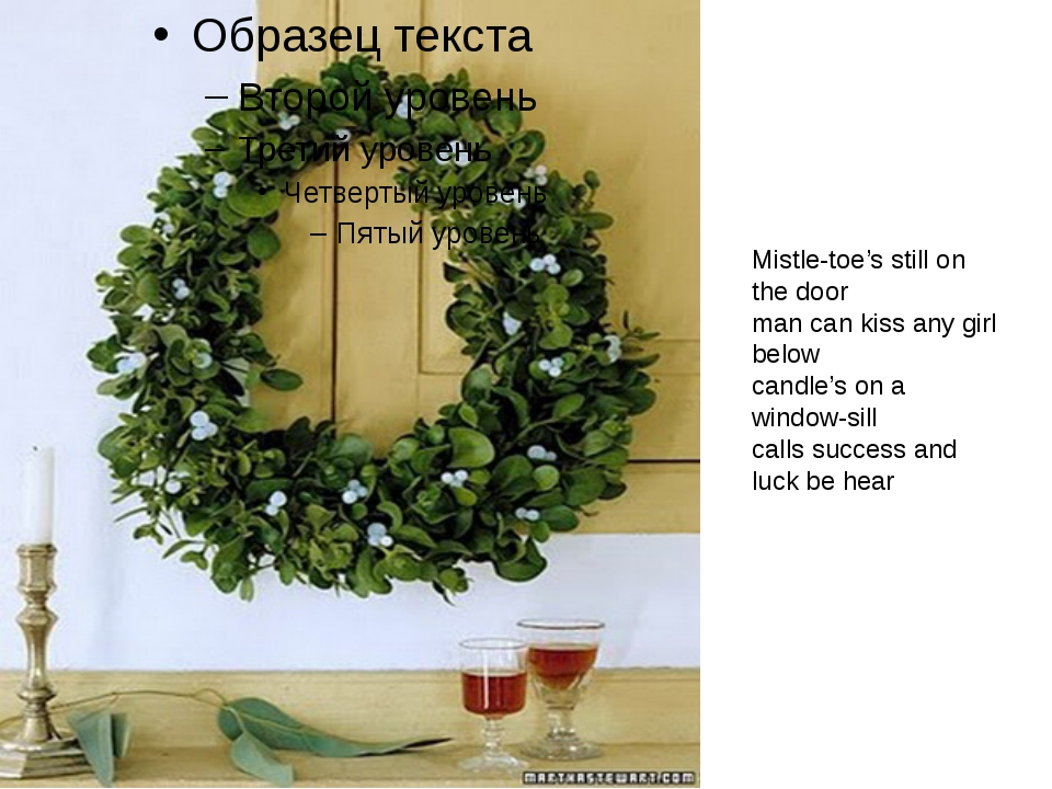 Mistle-toe's still on the door man can kiss any girl below candle's on a wind...