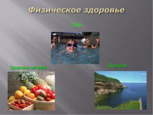 Здоровое питание Экология Спорт
