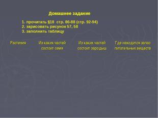 Домашнее задание 1. прочитать §18 стр. 86-88 (стр. 92-94) 2. зарисовать рисун