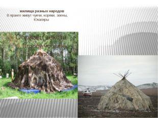 жилища разных народов В яранге живут чукчи, коряки, эвены, Юкагиры