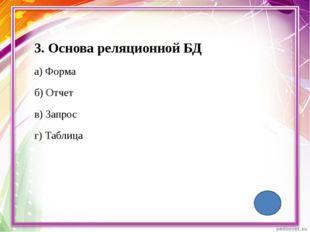 Основное средство для хранения информации в БД. Б Л И Ц А Т А 5 П 10 50 + 10
