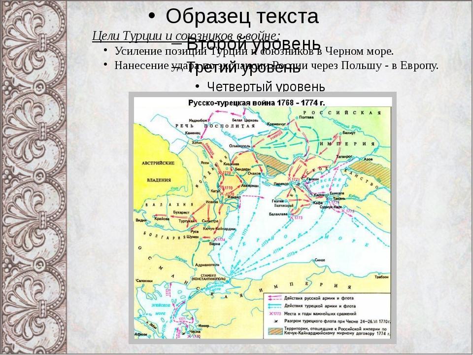 Цели Турции и союзников в войне: Усиление позиций Турции и союзников в Черном...