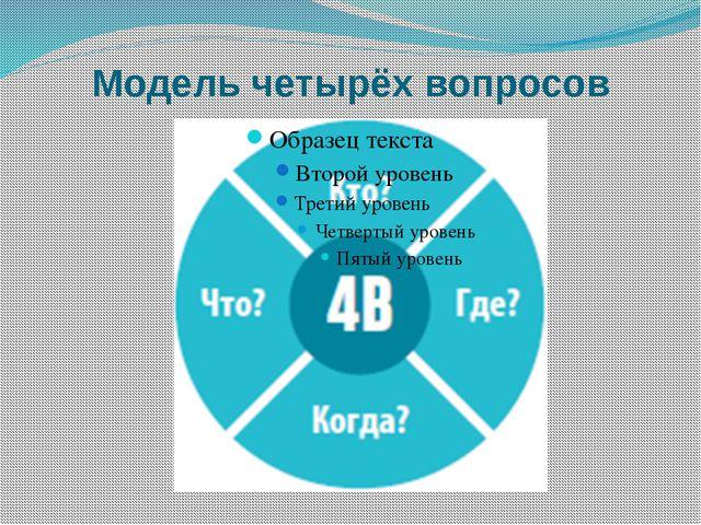 Модель четырёх вопросов