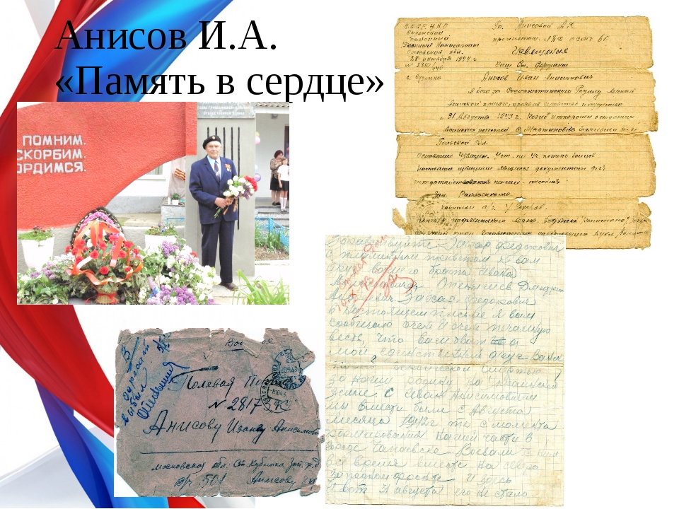 Анисов И.А. «Память в сердце»