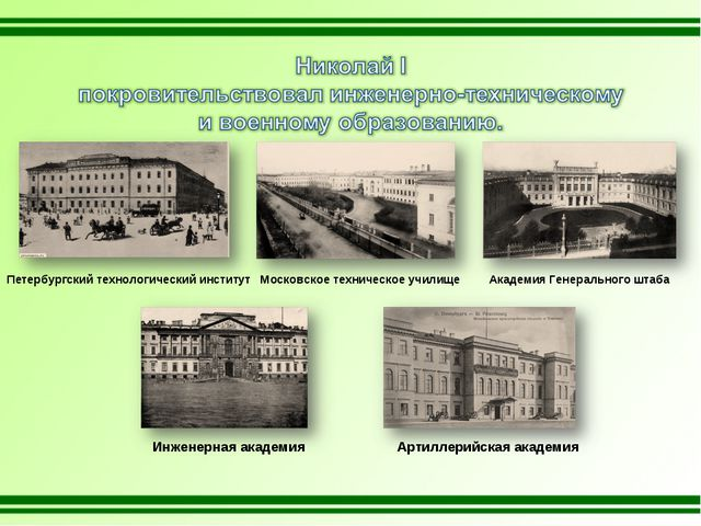 Петербургский технологический институт Московское техническое училище Академи...