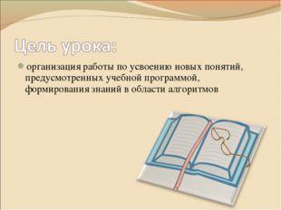 организация работы по усвоению новых понятий, предусмотренных учебной програм