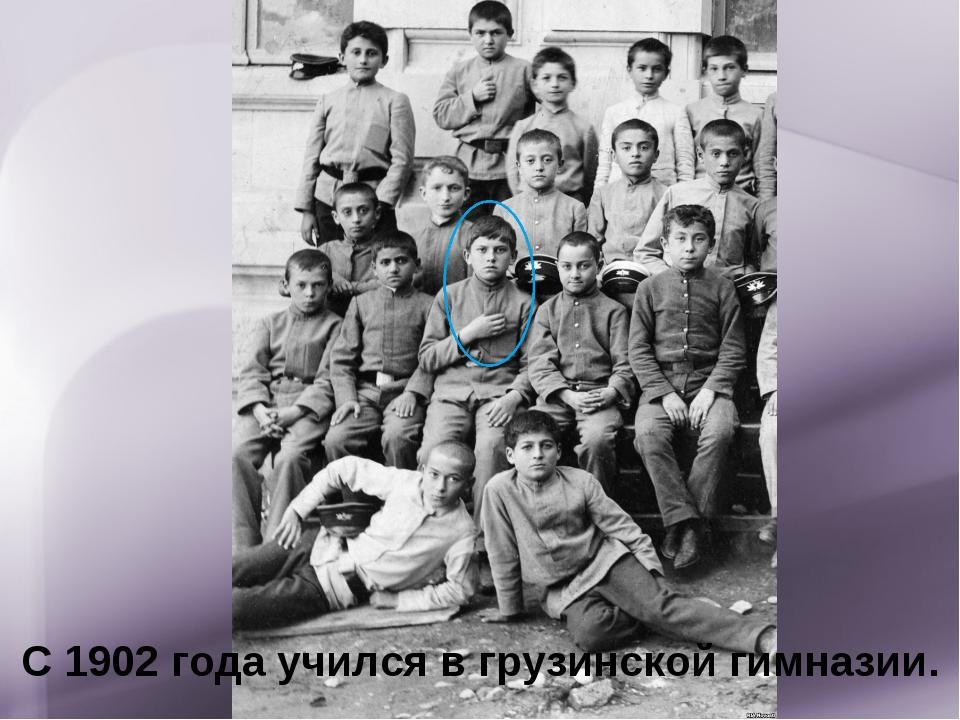 С 1902 года учился в грузинской гимназии.
