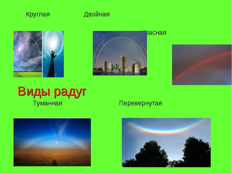 Круглая Двойная Красная Виды радуг Туманная Перевернутая