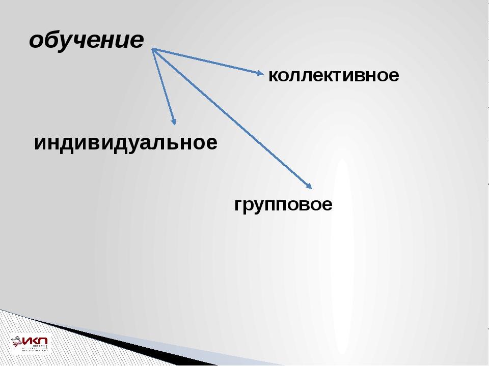 обучение индивидуальное групповое коллективное