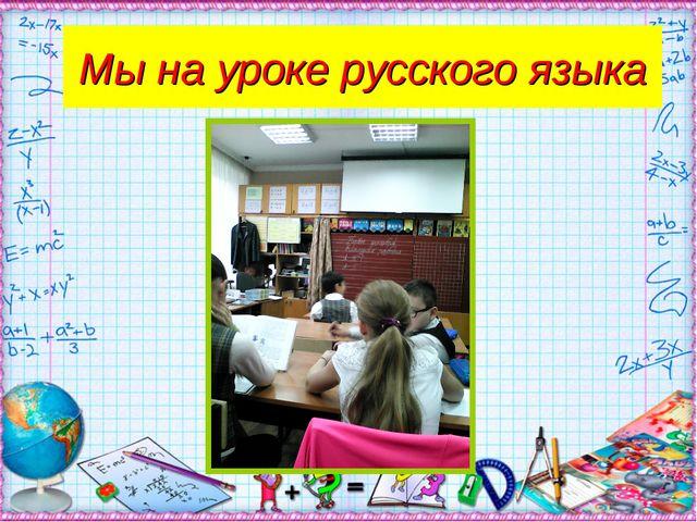 Мы на уроке русского языка