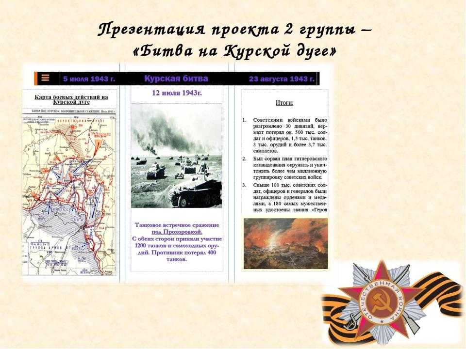 Презентация проекта 2 группы – «Битва на Курской дуге»