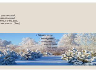 Крыша в шапке меховой, Белый дым над головой, Двор в снегу, в снегу дома, Ноч