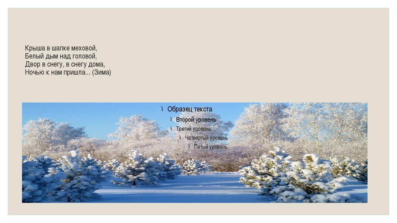 Крыша в шапке меховой, Белый дым над головой, Двор в снегу, в снегу дома, Ноч...