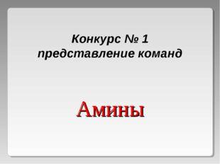 Конкурс № 1 представление команд Амины