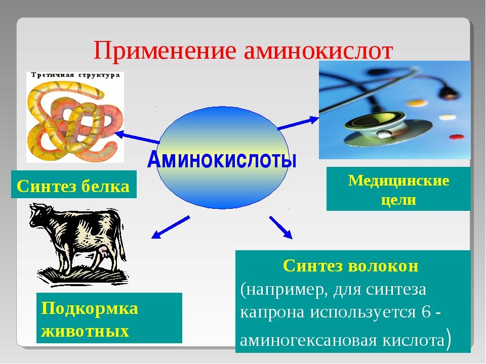 Применение аминокислот Аминокислоты Синтез белка Медицинские цели Подкормка ж...