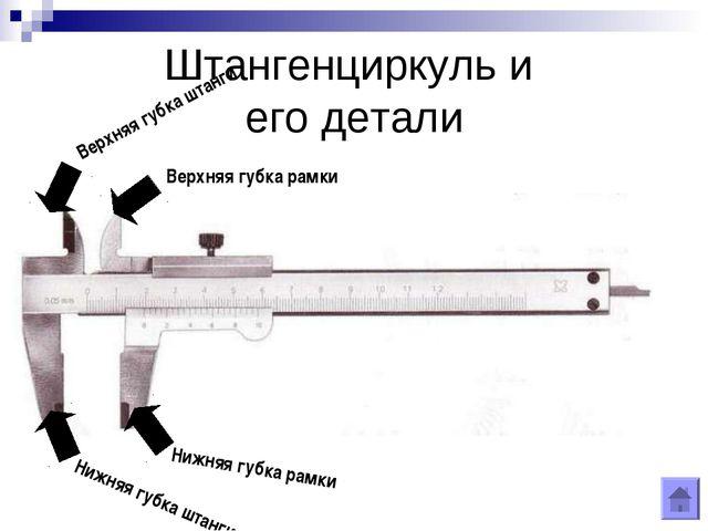 Штангенциркуль и его детали
