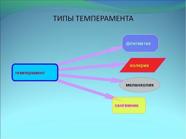 темперамент флегматик меланхолик холерик сангвиник
