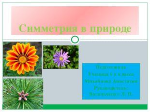 Подготовила Ученица 6 в класса Михайлова Анастасия Руководитель: Васильченко