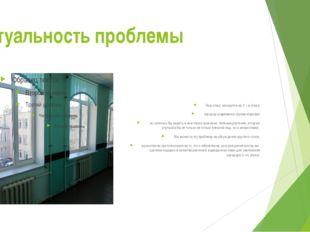 Актуальность проблемы Наш класс находится на 3 – м этаже коридор современно о