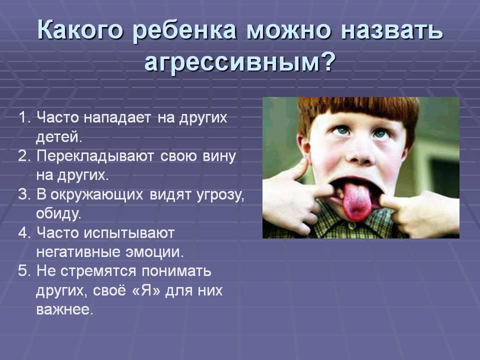 Какого ребенка можно назвать агрессивным. Часто нападает на других детей. Перекладывают свою вину на других. В окружающих видят