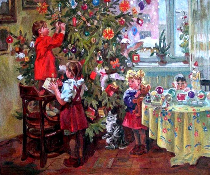 Русские художники о новом годе