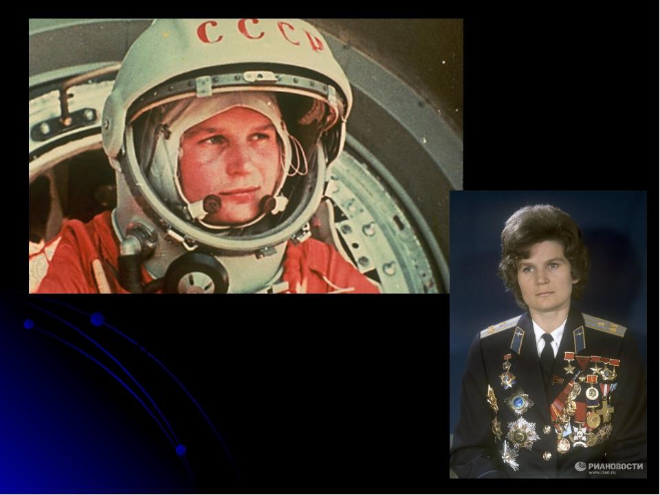 Валентина Терешкова - первая женщина-космонавт 16-19 июня 1963 год