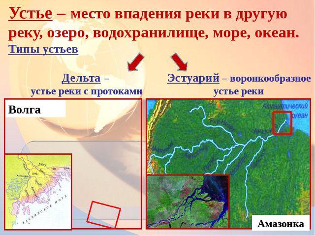 Устье – место впадения реки в другую реку, озеро, водохранилище, море, океан....