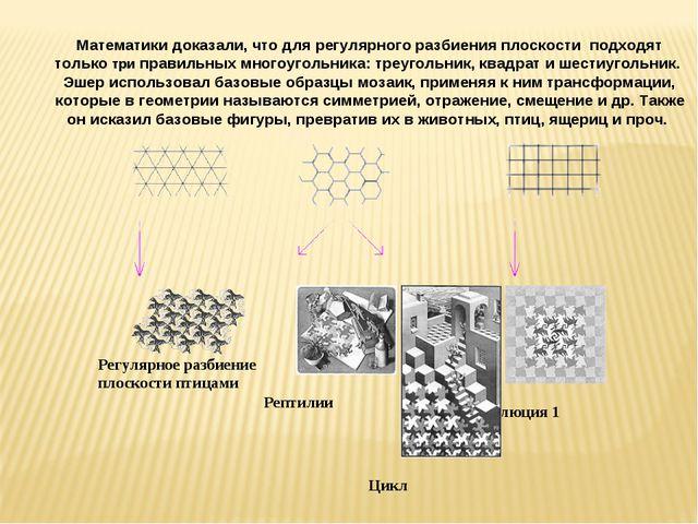 Математики доказали, что для регулярного разбиения плоскости подходят только...