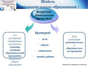 ОО достижение планируемых результатов освоения основной образовательной прог