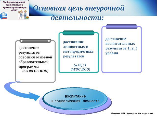 достижение личностных и метапредметных результатов (п.10, 11 ФГОС НОО) Основ...