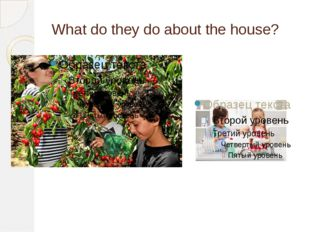What do they do about the house?