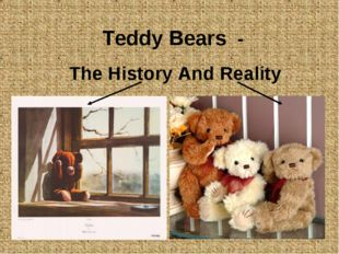 Teddy Bears - The History And Reality