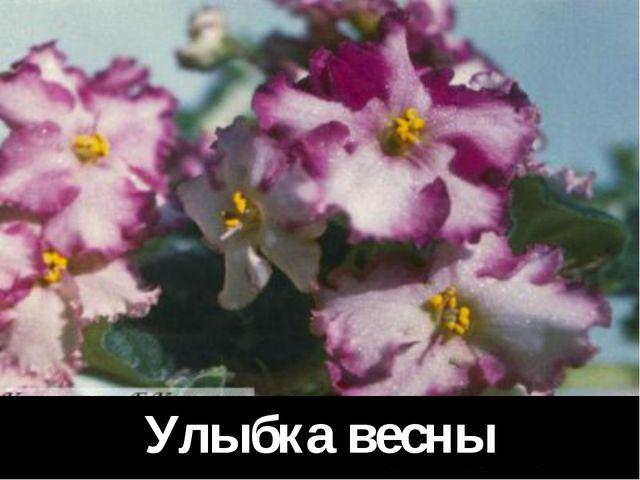 Улыбка весны