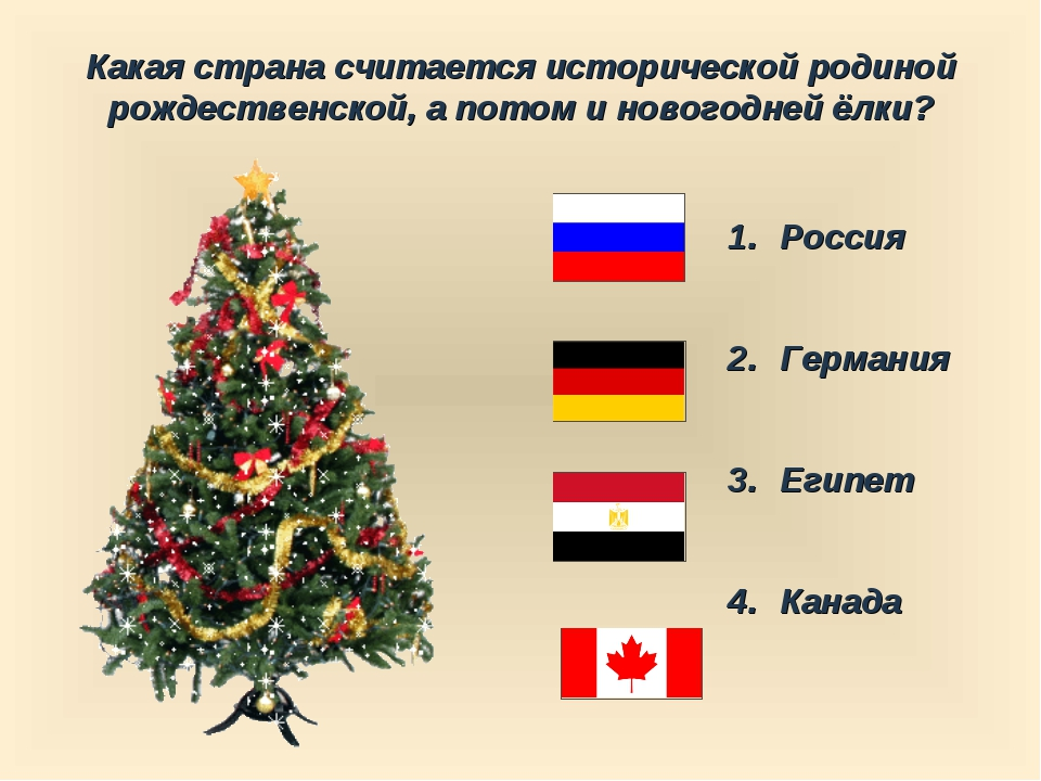 Какая страна считается исторической родиной рождественской, а потом и новогод...