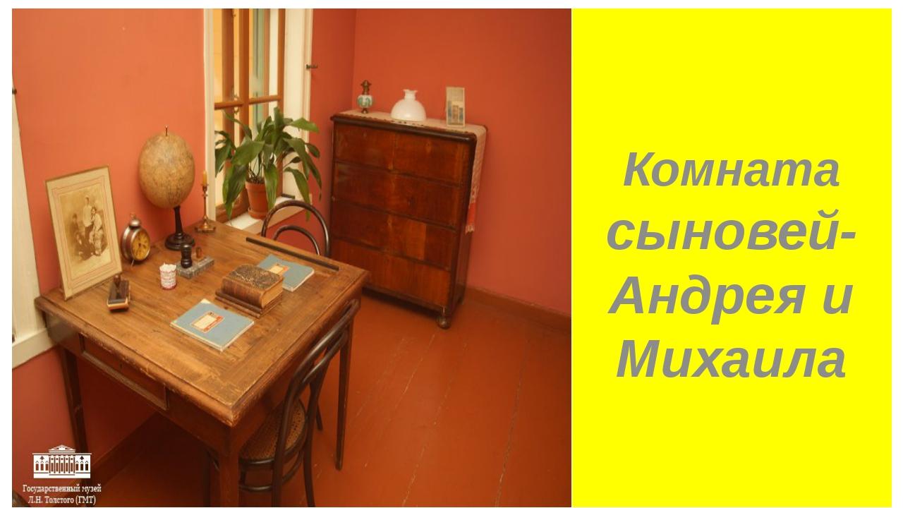 Комната сыновей-Андрея и Михаила