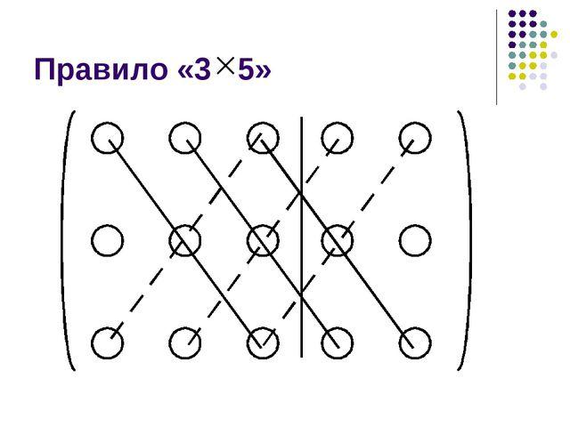 Правило «3 5»