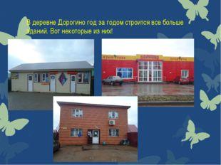 В деревне Дорогино год за годом строится все больше зданий. Вот некоторые из
