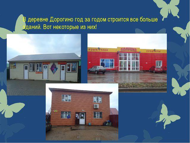 В деревне Дорогино год за годом строится все больше зданий. Вот некоторые из...
