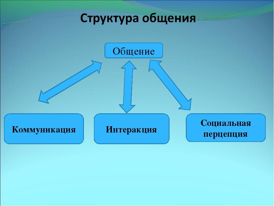 Общение Коммуникация Интеракция Социальная перцепция