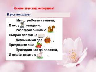 Лингвистический эксперимент В русском языке: На ярмарке можно купить сплетен
