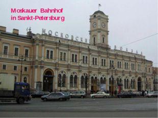 Moskauer Bahnhof in Sankt-Petersburg