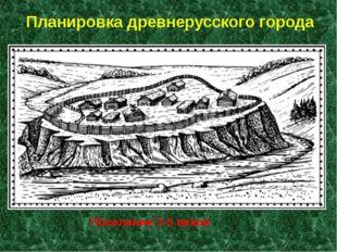 Планировка древнерусского города Поселение 3-5 веков