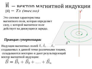 Это силовая характеристика магнитного поля, которая определяет силу, с которо