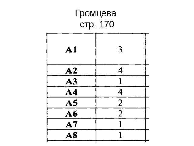 Громцева стр. 170