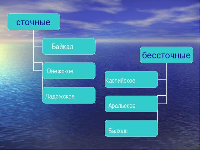 Байкал Онежское Ладожское Каспийское Аральское Балхаш