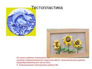 Тестопластика Из опыта работы Анашкиной Т.А., учителя изобразительного искусс