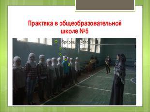 Практика в общеобразовательной школе №5